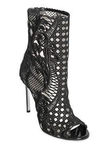 Balmain lace boots!