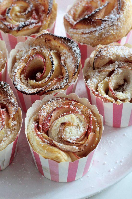 HerzStück: Apfel-Blätterteig-Rosen