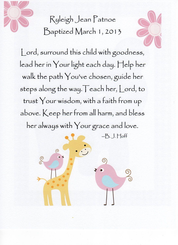 Baby Girl Baptism Gift Christening Gift By Justsayitoutloud