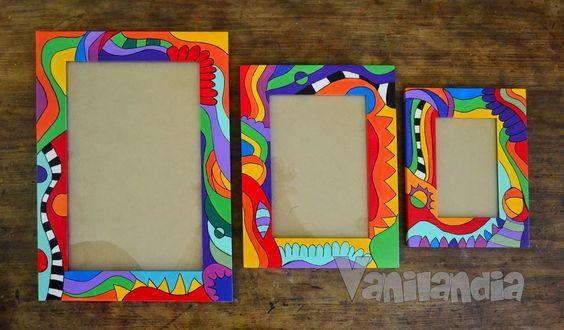 Vanilandia porta retratos pintura pinterest sedie for Sedie decorate a decoupage