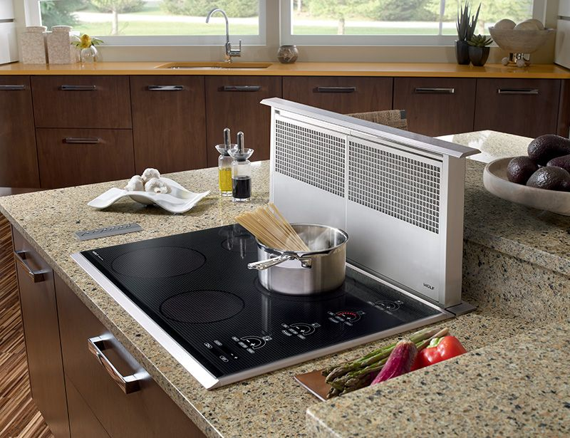 Cook Top With Disearing Exhaust Fan
