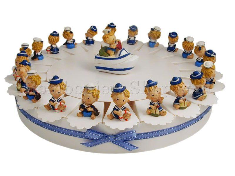 Bambini Simpatici ~ Torta bomboniera da 22 fette con dei simpatici bambini marinai