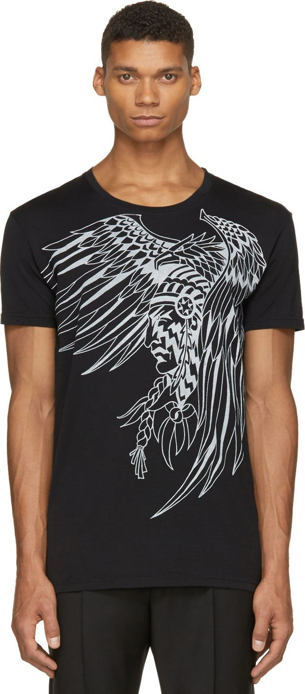 Balmain Black Warrior Graphic T-Shirt