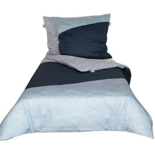 Mako Satin Bettwasche Block Schoner Wohnen Grosse 155 B X 220 L Cm 1 Kissen 80 X 80 Cm Farbe Dunkelblau Home Decor Bed Furniture