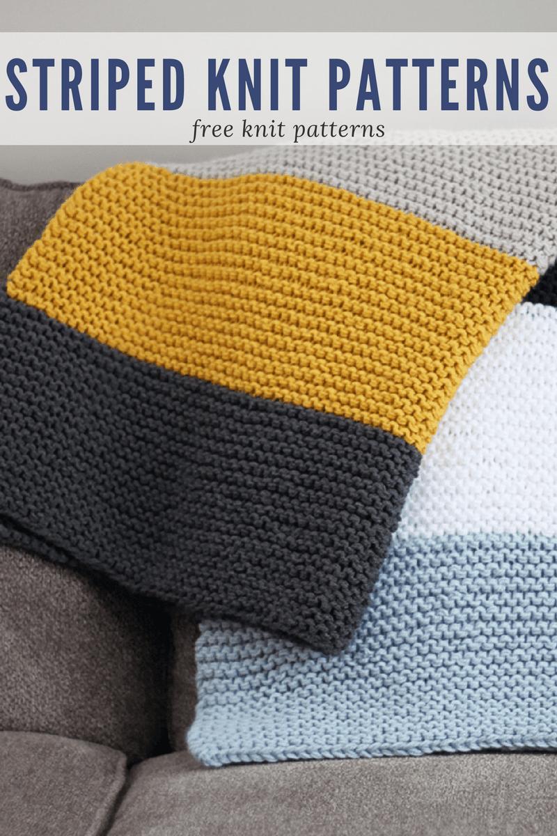 Striped Knit Patterns | Knit patterns, Patterns and Knitting blanket ...