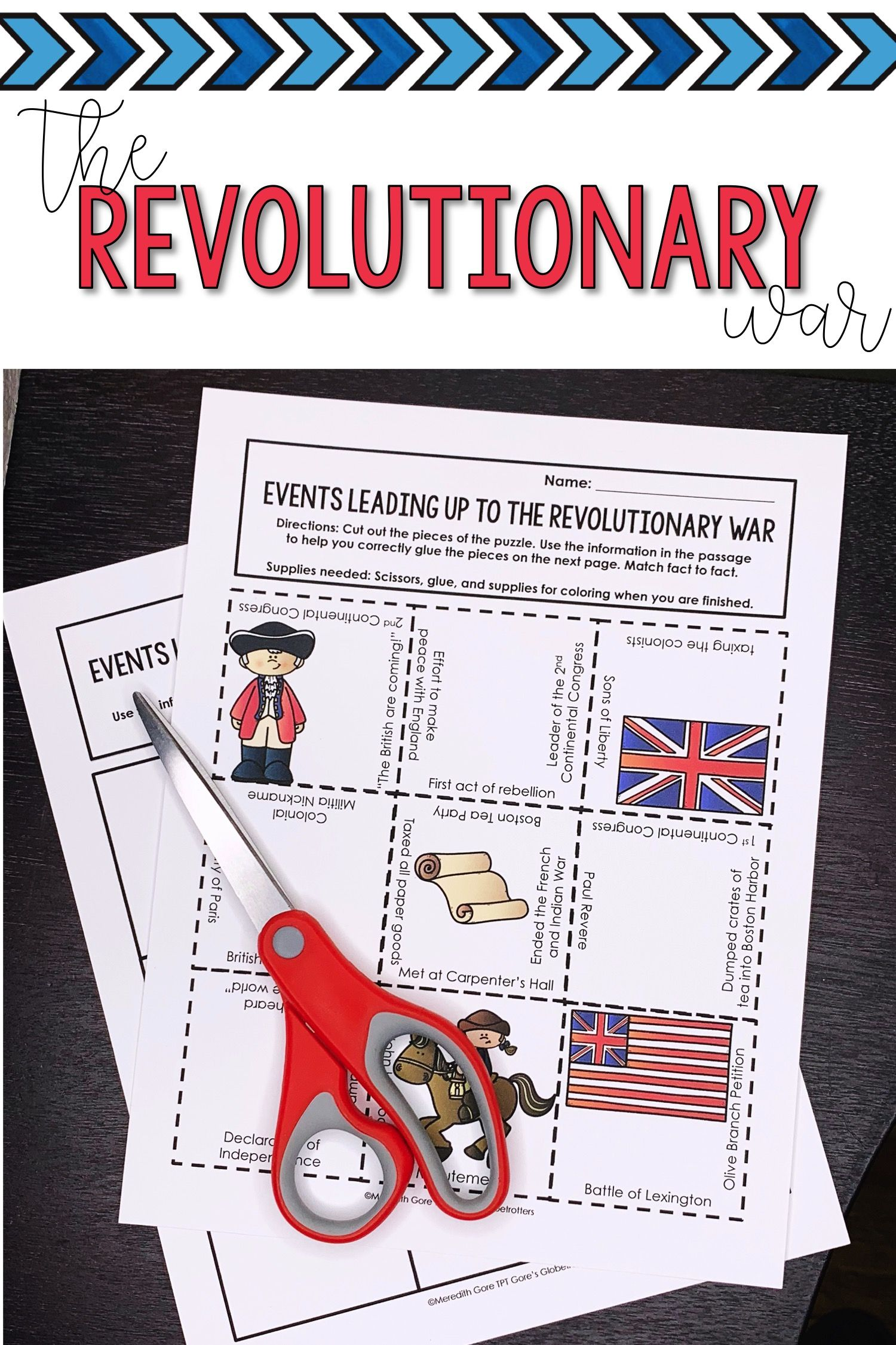 Events Leading Up To The American Revolution Puzzle