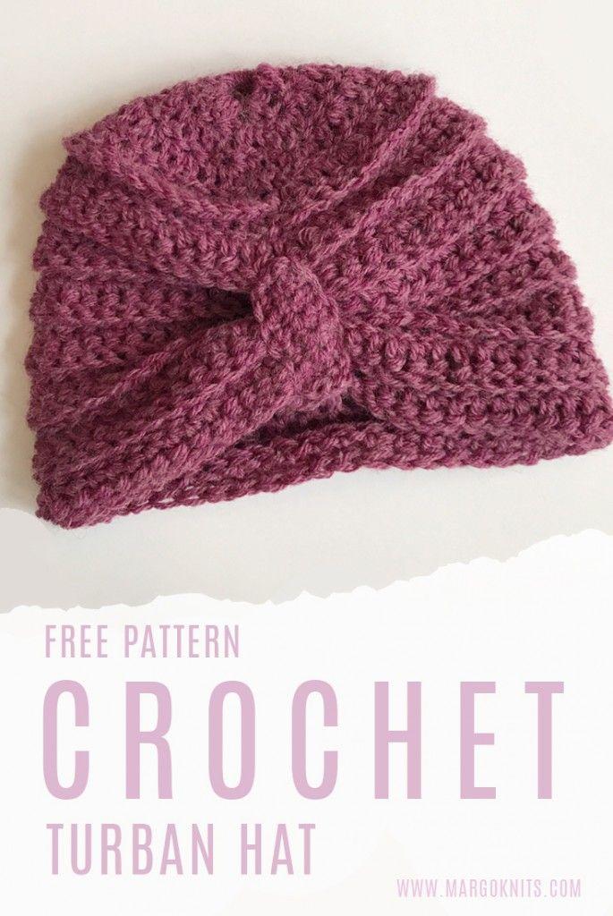 Turban Hat Crochet Free Pattern | Knitting/Crochet | Pinterest ...
