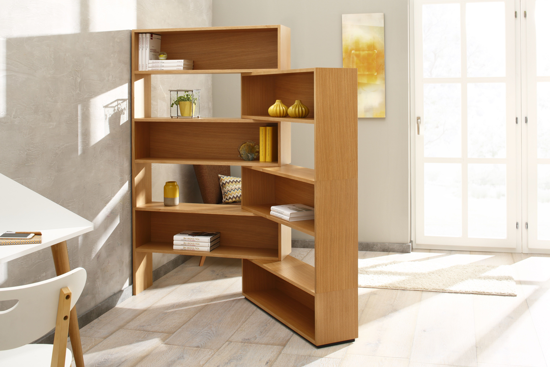 Eckhardt als raumteiler modulares design eckregal das for Wohnzimmer eckregal design