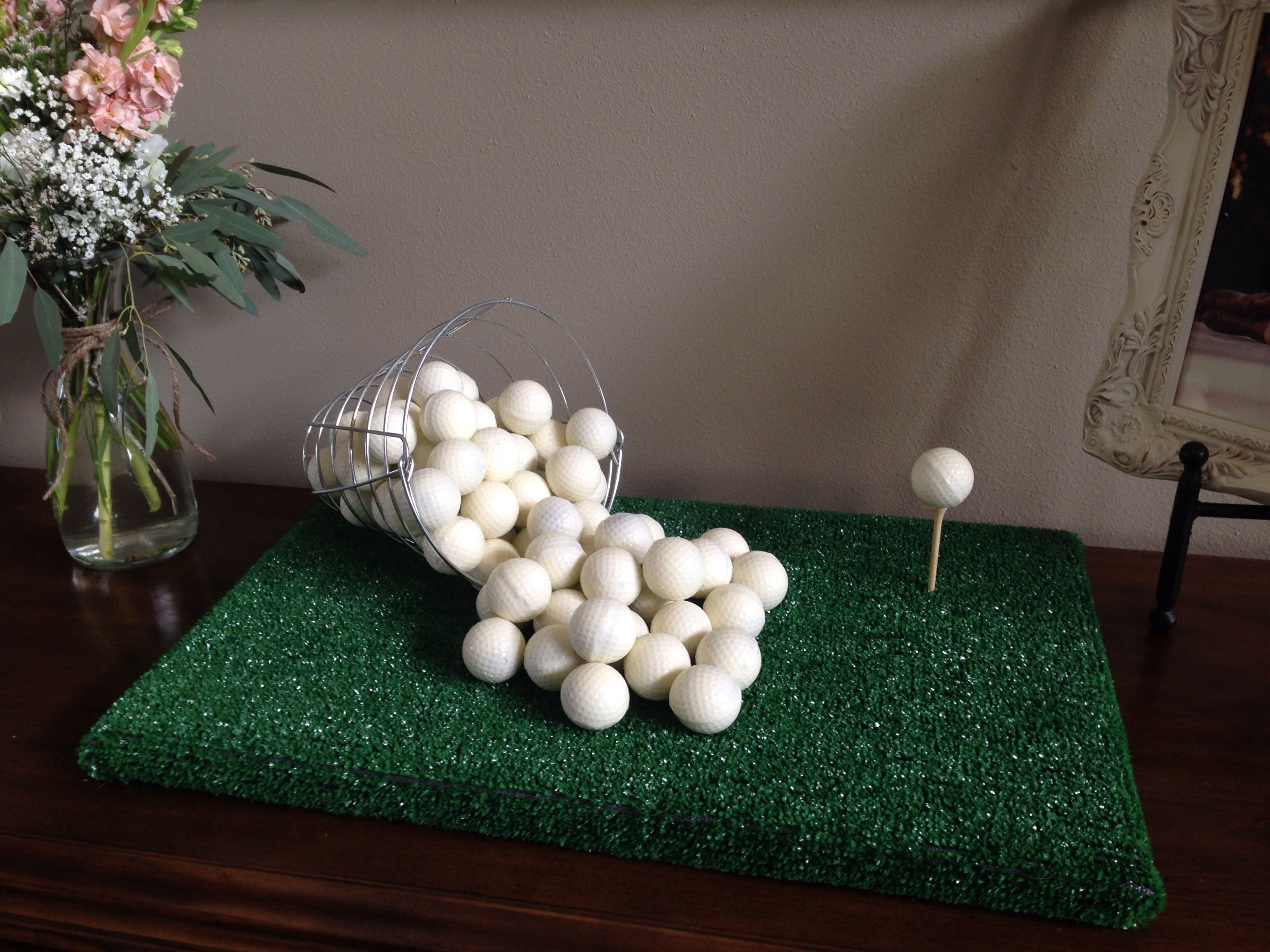 Golf Cake Ball Grooms Cake - Candace's Cake Balls