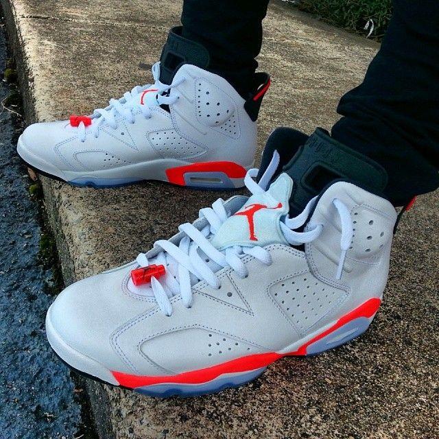 white infrared 6s on feet Sale Jordan Shoes