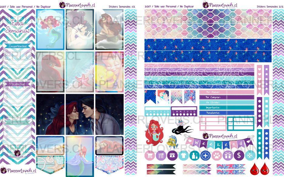 """BAHO DEL MAH, BAHO DEL MAAAH…♪♫ – Jkjjajaja xD Renové los stickers de la película de Disney """"La Sirenita"""", no creo que necesite más presentación, ya todas la conocen! :) ♥ …"""