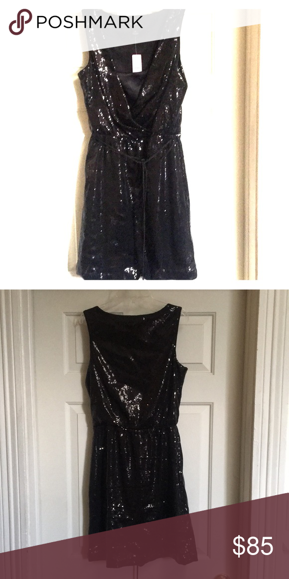 White House Black Market Black Sequin Dress W Tag Boutique My