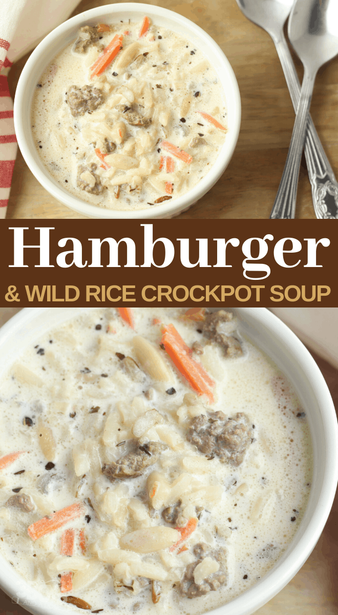 Hamburger Meat And Wild Rice Soup Recipe Hamburger Meat Recipe Rice Soup Wild In 2020 Wild Rice Soup Recipes Rice Soup Recipes Wild Rice Soup