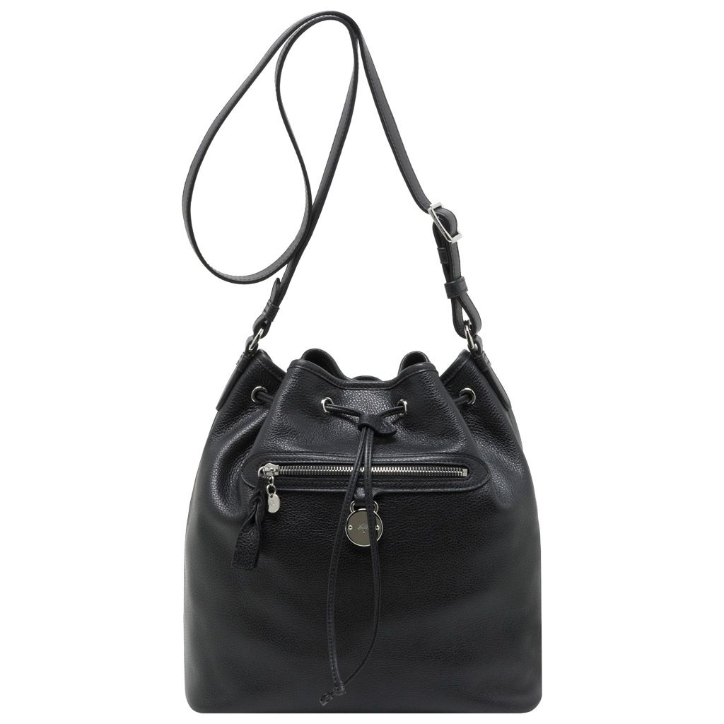 Mulberry - Somerset Drawstring Bag in Black Pebbled Leather  eee39a397ac42