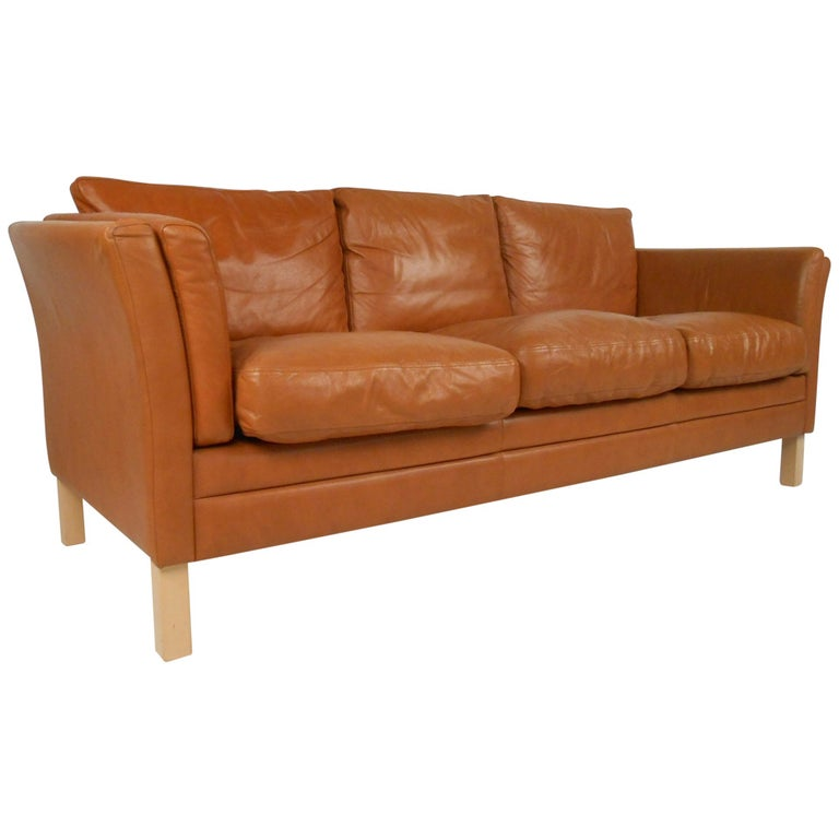 Scandinavian Modern Leather Sofa Modern Leather Sofa Leather