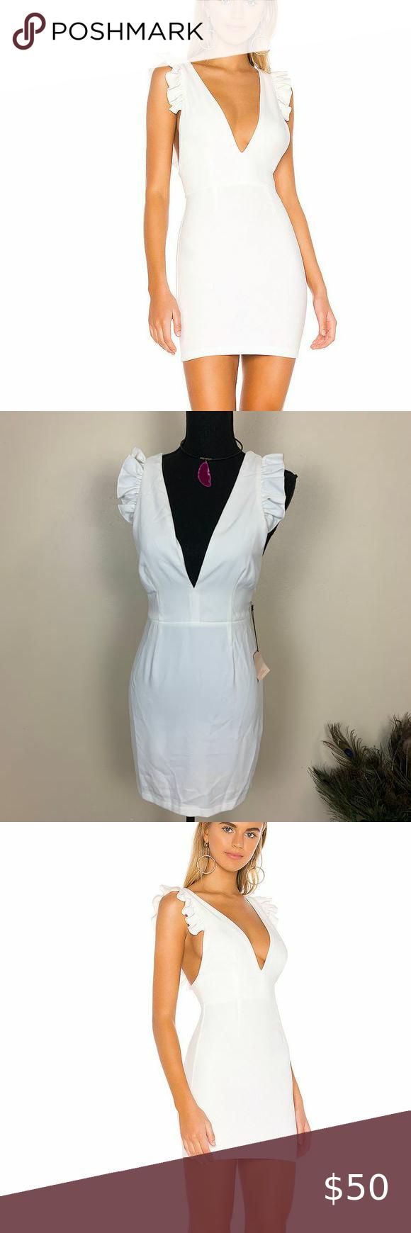 Superdown Keely Frill Mini Dress In White Revolve Mini Dress Fashion Clothes Women Fashion [ 1450 x 960 Pixel ]