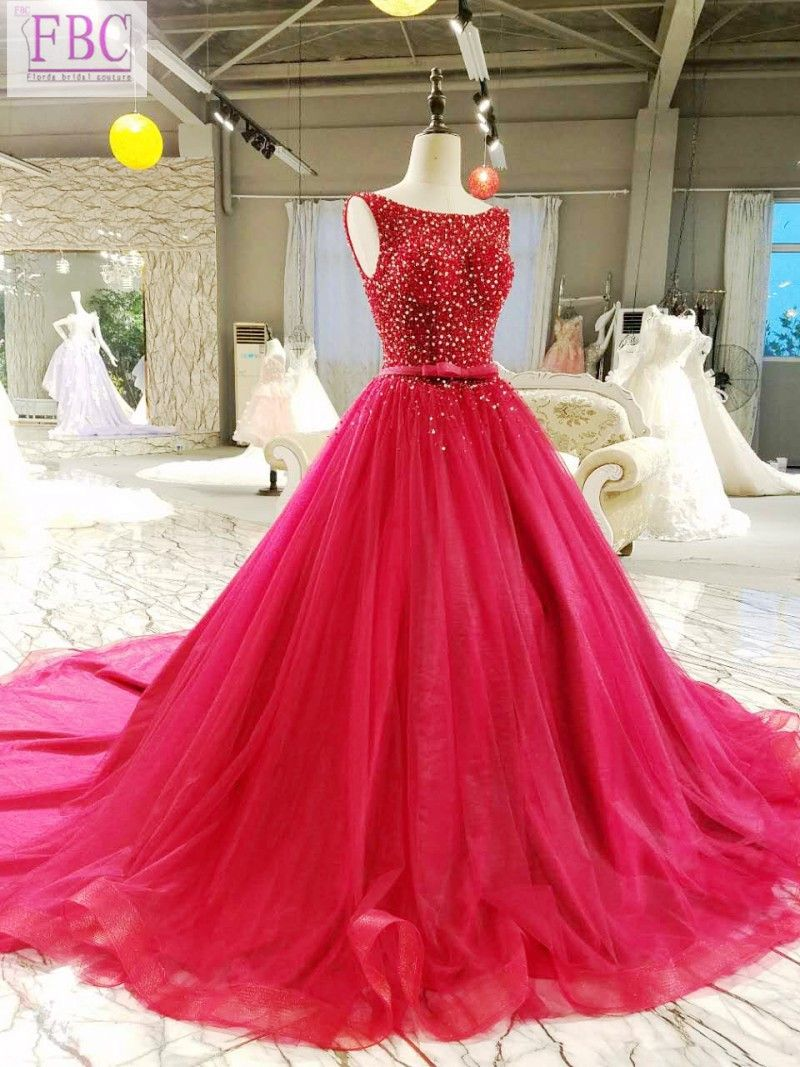 real picture burgundy wine red ball gown prom dresses scoop