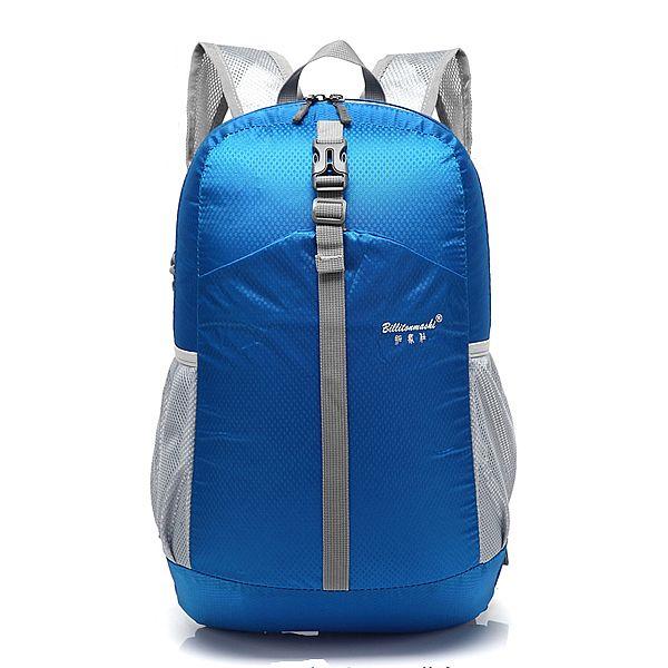 8f07ea70a8df Sale 11% (14.35 ) - Women Men Nylon Backpack Lightweight Waterproof Hiking Outdoor  Sports Rucksack