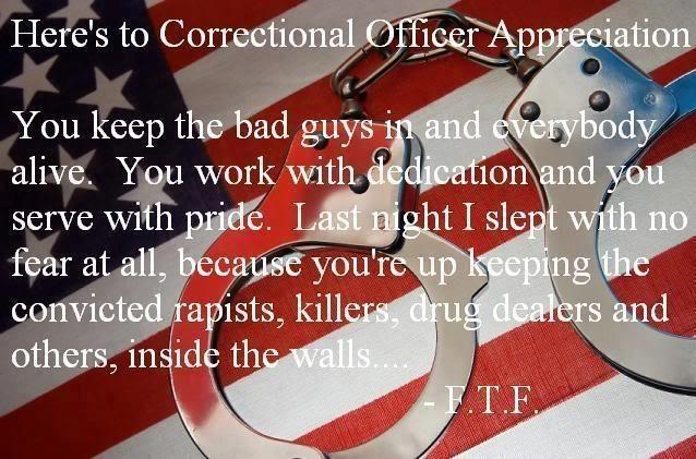 Correctional Officer Appreciation BLUE LIVES MATTER! Pinterest