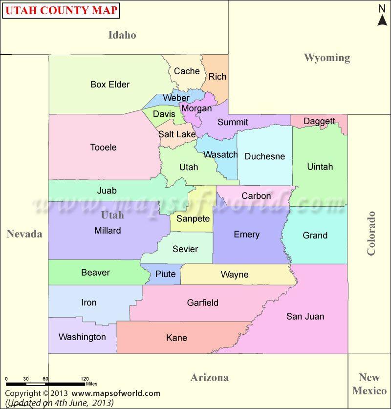 Utah County Map Maps Pinterest Utah Maps And US States - Us map utah