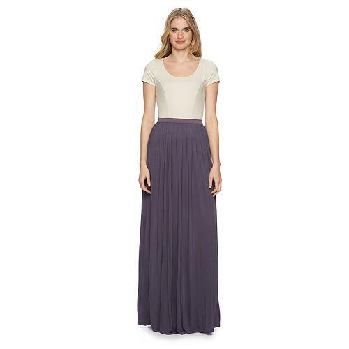 Purple Colorblock Maxi Dress