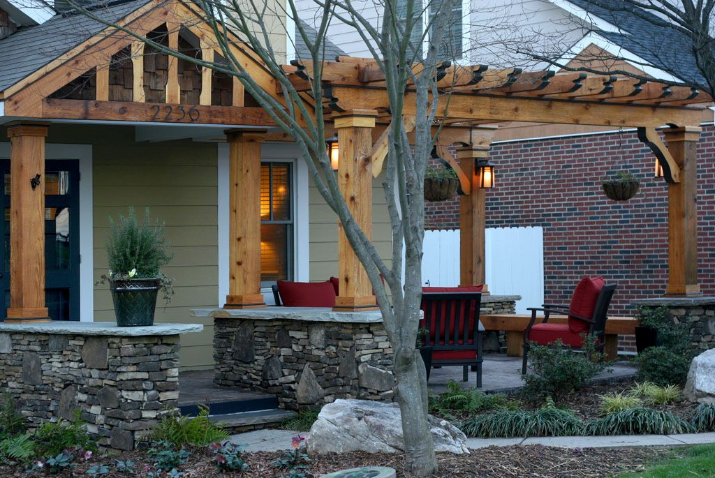 Front Porch Pergola Front Porch Addition Pergola By