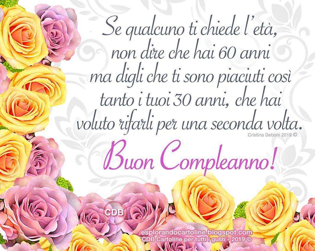 Auguri Buon Compleanno 60 Anni.Pin Su Happy Birthday
