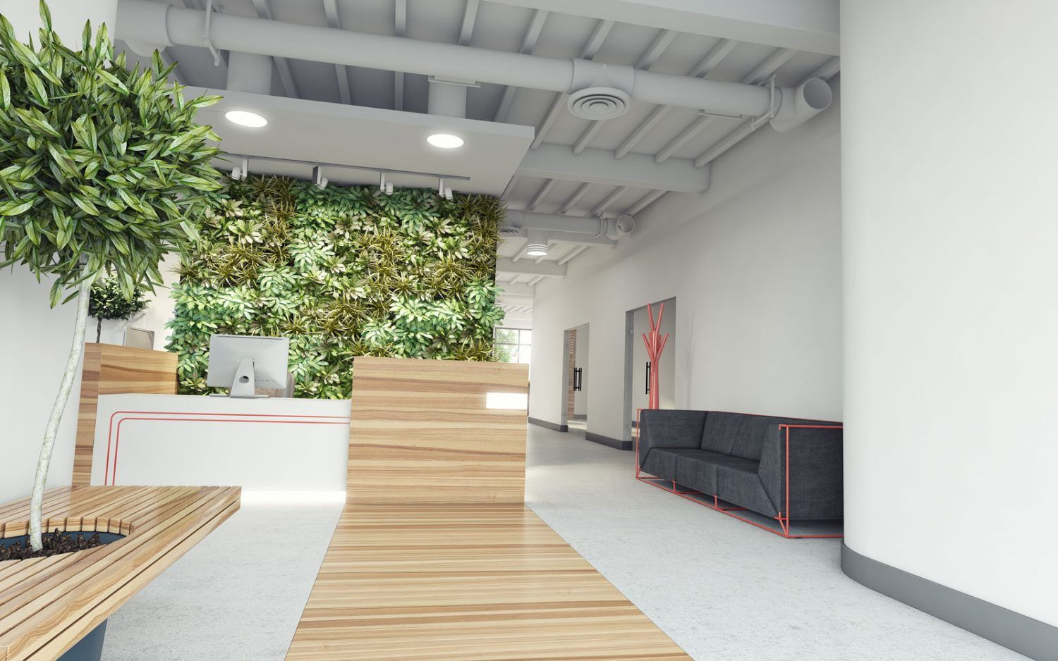 new office design. Biophilic-office-interior-design-for-new-workspace-trends New Office Design
