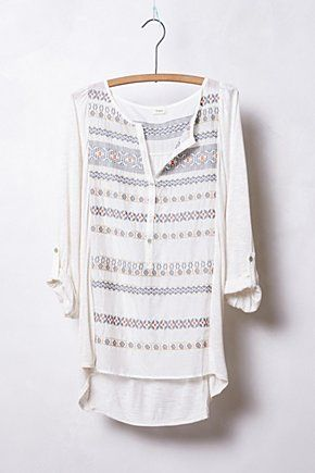 Fusion Stitched Henley | Anthropologie.eu