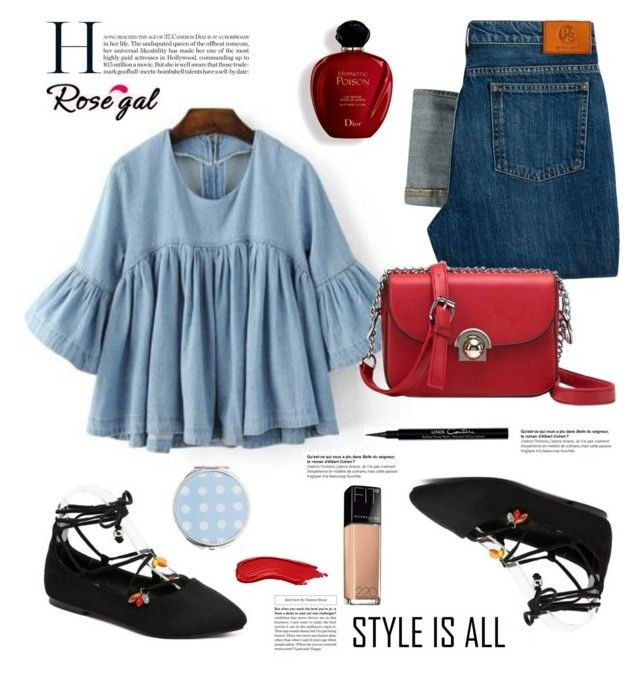 """Rosegal.com: Style is all"" by hamaly ❤ liked on Polyvore featuring Paul Smith, Maybelline, Givenchy, Satine, Miss Selfridge, shoes, ootd, bags, blouse and rosegal"