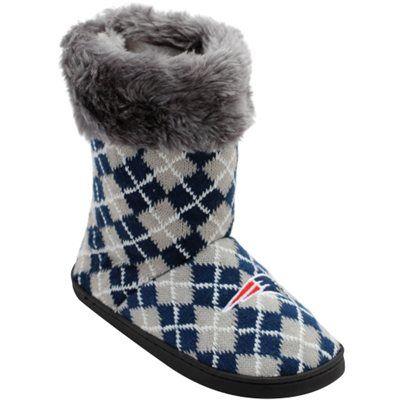 New England Patriots Women's Argyle Fur Boot