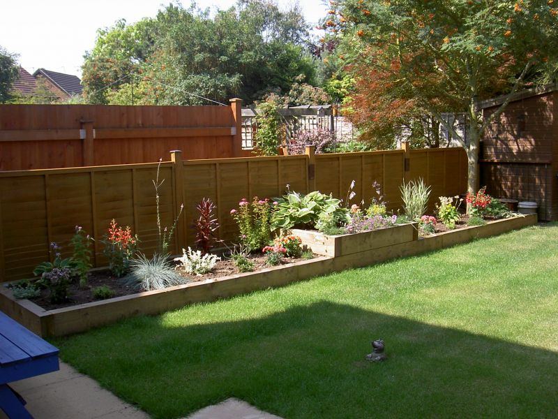 Raised beds from new Pine railway sleepers | Home sweet home ...