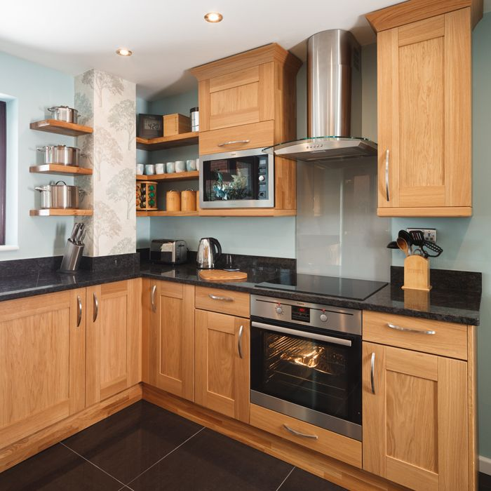 Shaker Lacquered Oak Cabinets Make Beautiful Feature Kitchens New Look  Kitchen Cabinet Refacing Solid Wood Doors