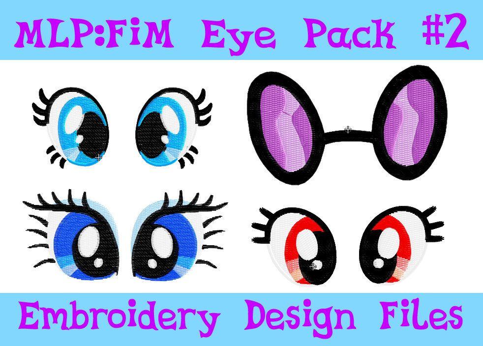 Set No2 Of My Little Pony Plush Eyes PES Machine