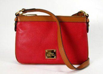 LAUREN Ralph Lauren Promenade Small Flat Crossbody (Red) $78.00