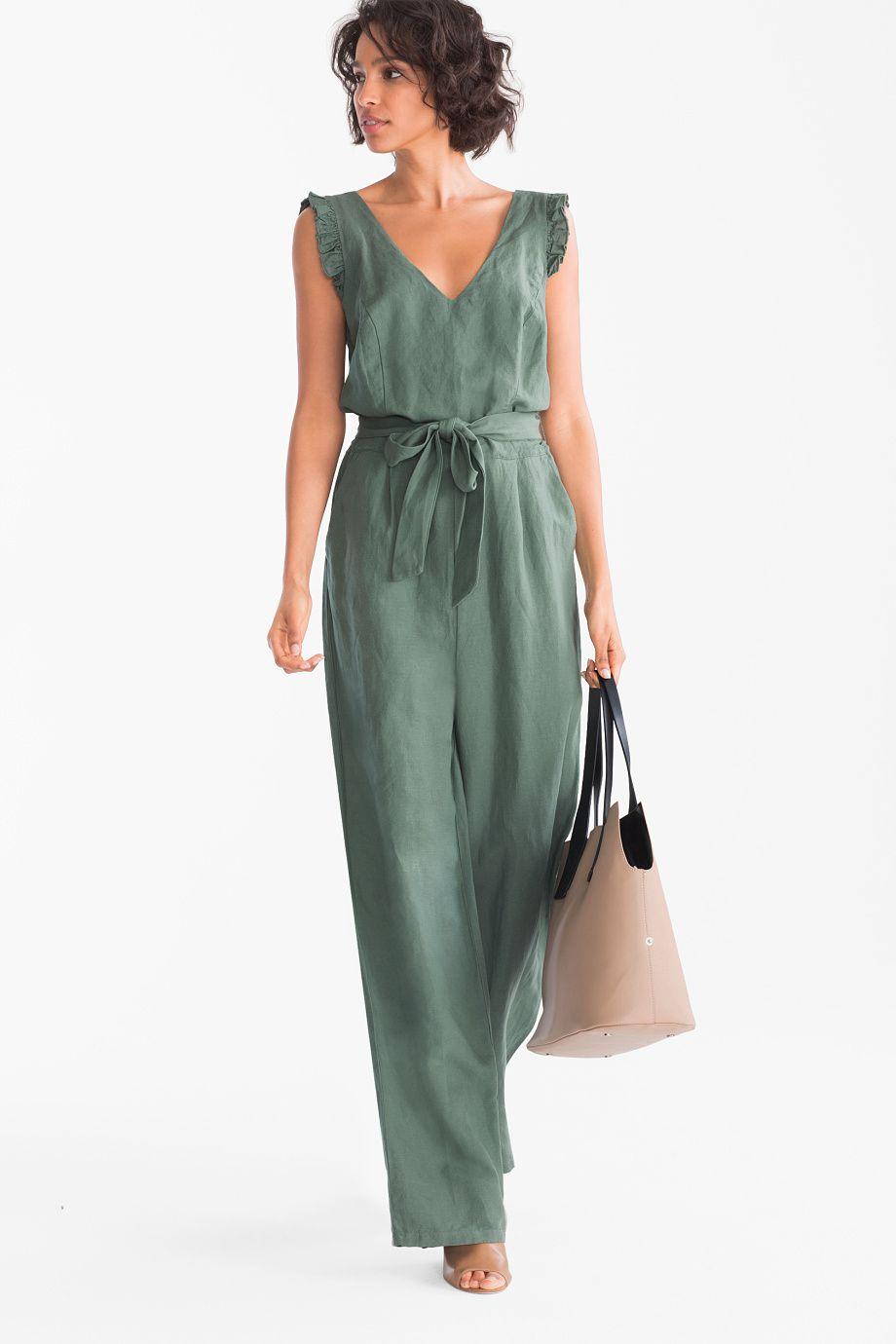 jumpsuit - linnenmix | c&a | pantalones de vestir mujer