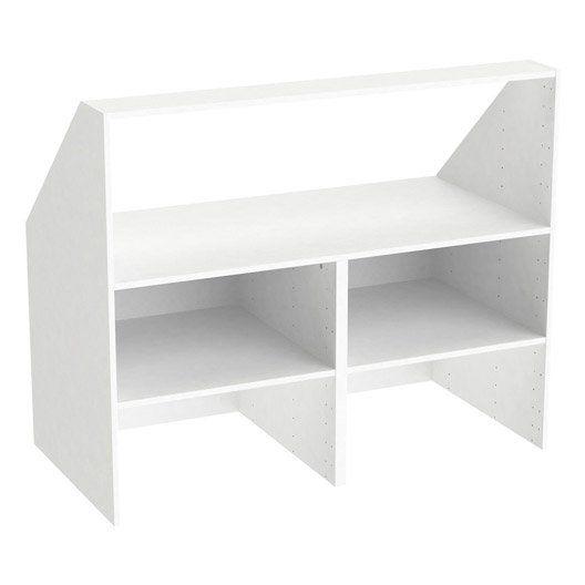Caisson Sous Comble Blanc Spaceo Home H 100 X L 120 X P 60 Cm Idees Pour La Maison En 2019 Caisson Sous Comble Mobilier De Salon Et Combles