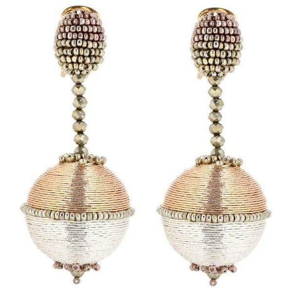 Oscar De La Renta beaded earrings - Metallic VPF6kR0T0C