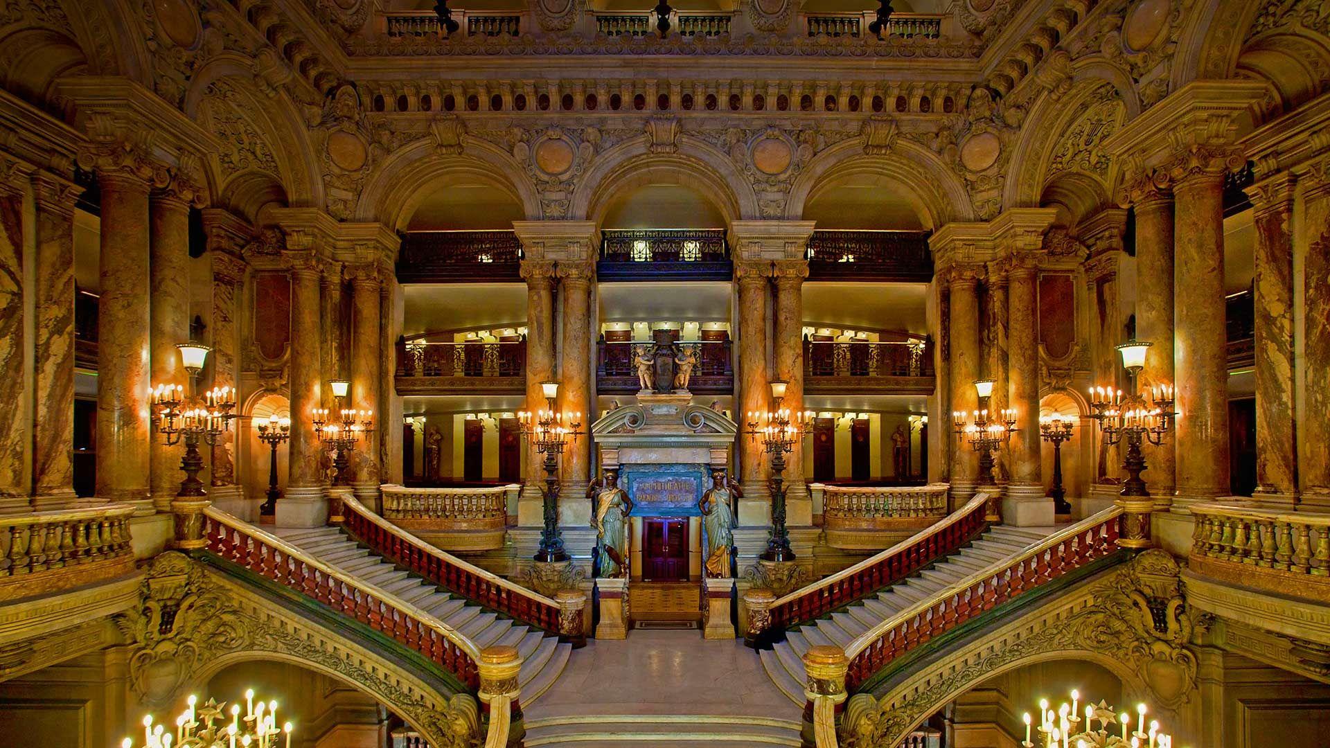 Palais Garnier in Paris, France (© John Kellerman/Alamy) – 2015-08-27  [http://www.bing.com/search?q=Palais+Garnier&form=hpcapt&filters=HpDate:%2220150827_0700%22]