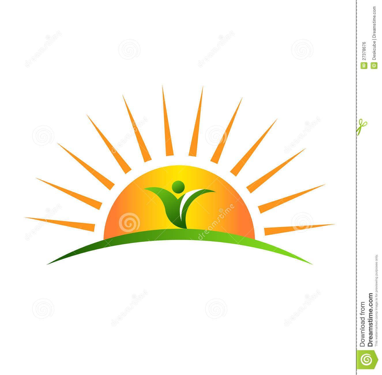 Plant In Sunrise Logo Stock Vector Image Of Pattern 27378676 Sunrise Logo Vector Logo Green Logo Design