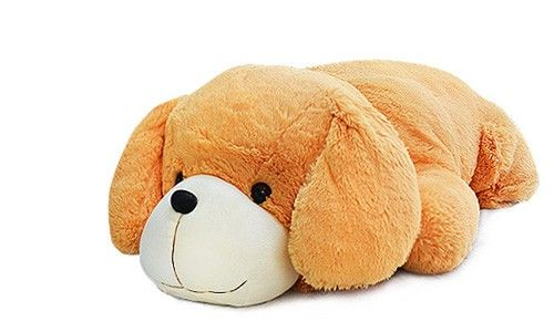 Plush Lying Cushion Dog With Big Head And Cute Expressionat Evtoys