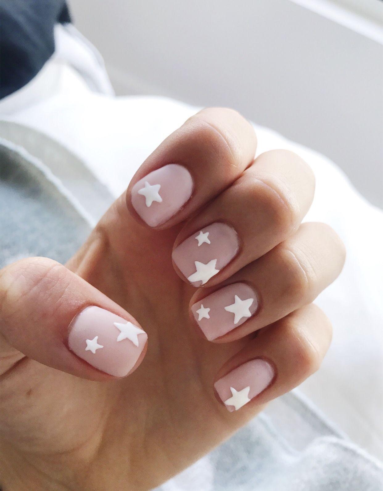 Pin By Orange Shoes On Unas 2 Star Nails Star Nail Art Pink Nails