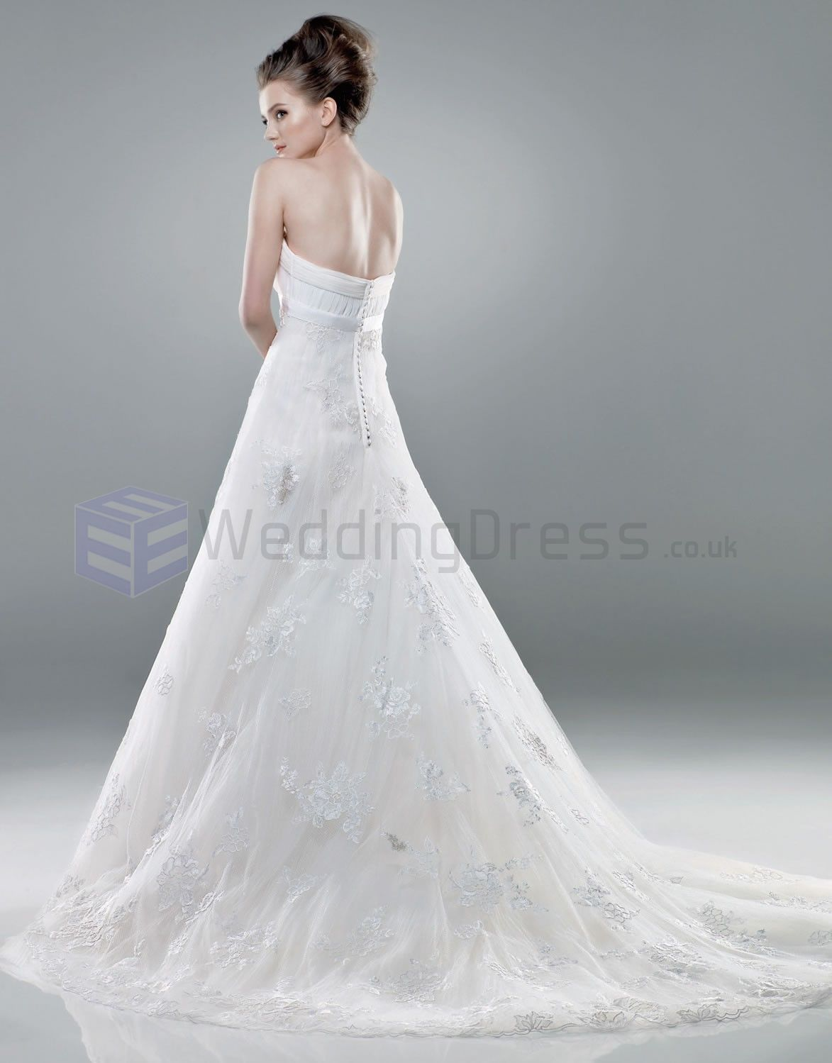 Bodice wedding dress  Ball Gown Tulle Embroidered Bodice Strapless Neckline Chapel Length