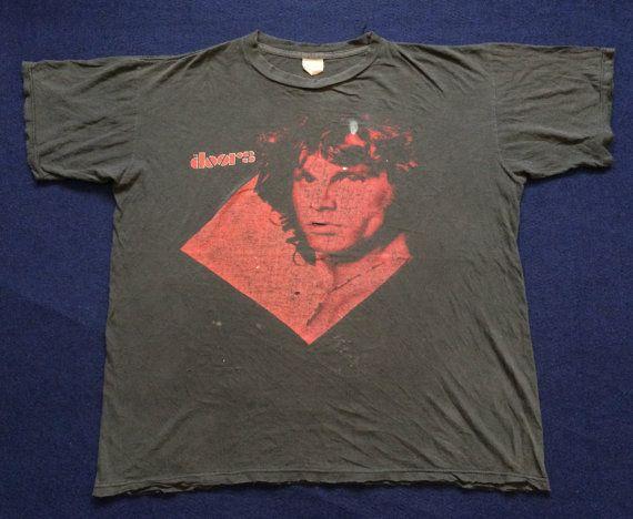 Vintage The Doors shirt. Distressed vintage band tee. Jim Morrison t-shirt.  sc 1 st  Pinterest & Vintage The Doors shirt. Distressed vintage band tee. Jim Morrison t ...