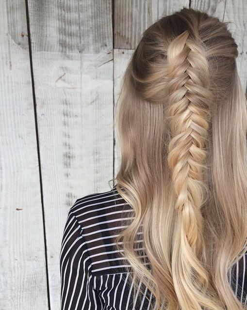 textured fishtail braided winter