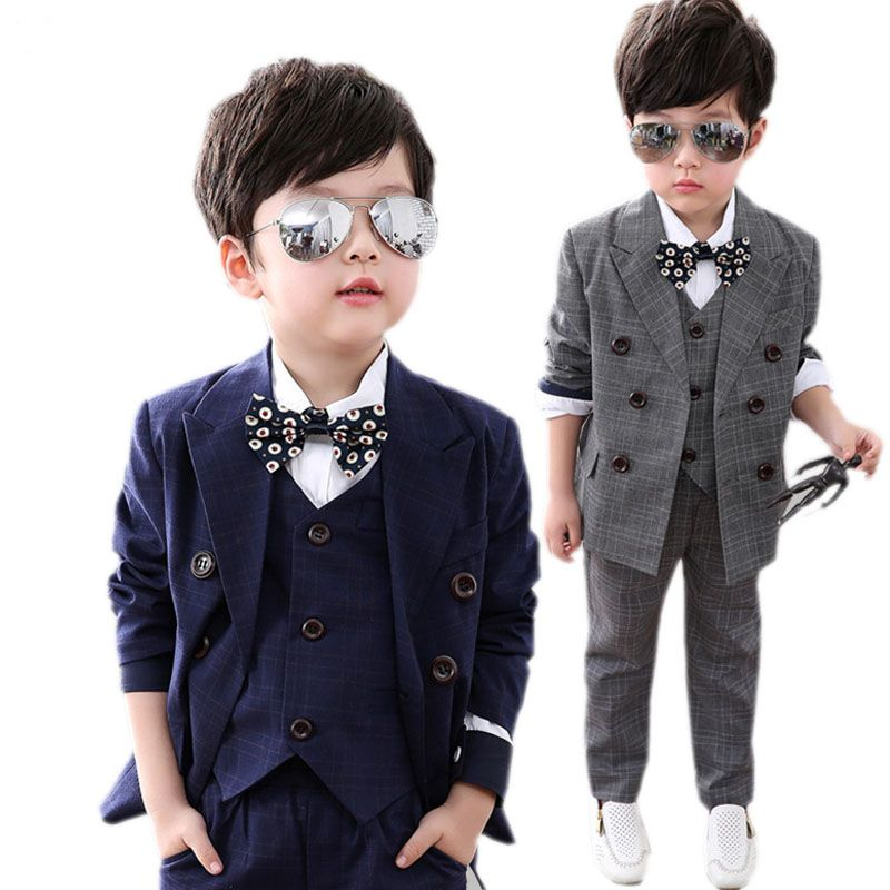 Click to Buy << kids blazer boy suits for weddings prom formal dress ...
