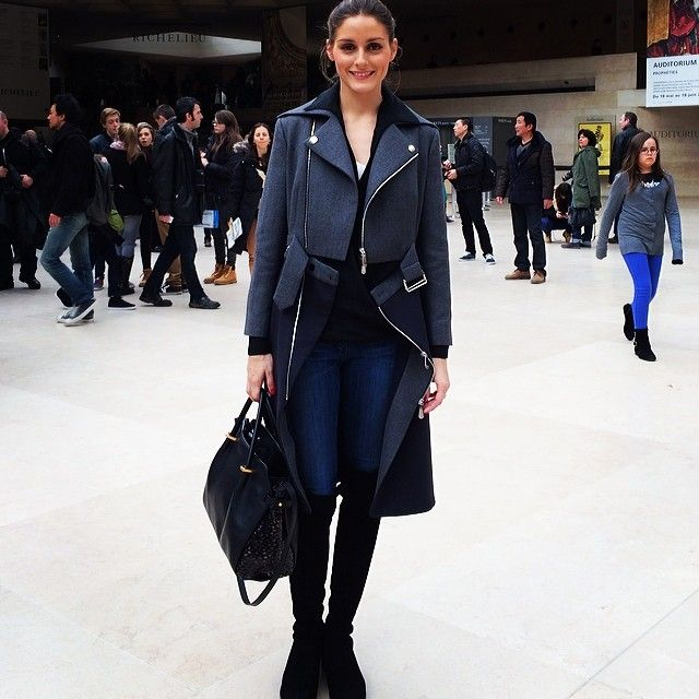 Olivia Palermo #therealoliviap On a little fashion break - with my amazing Dior coat and Nina Ricci bag #fineArts #muchneededbreak