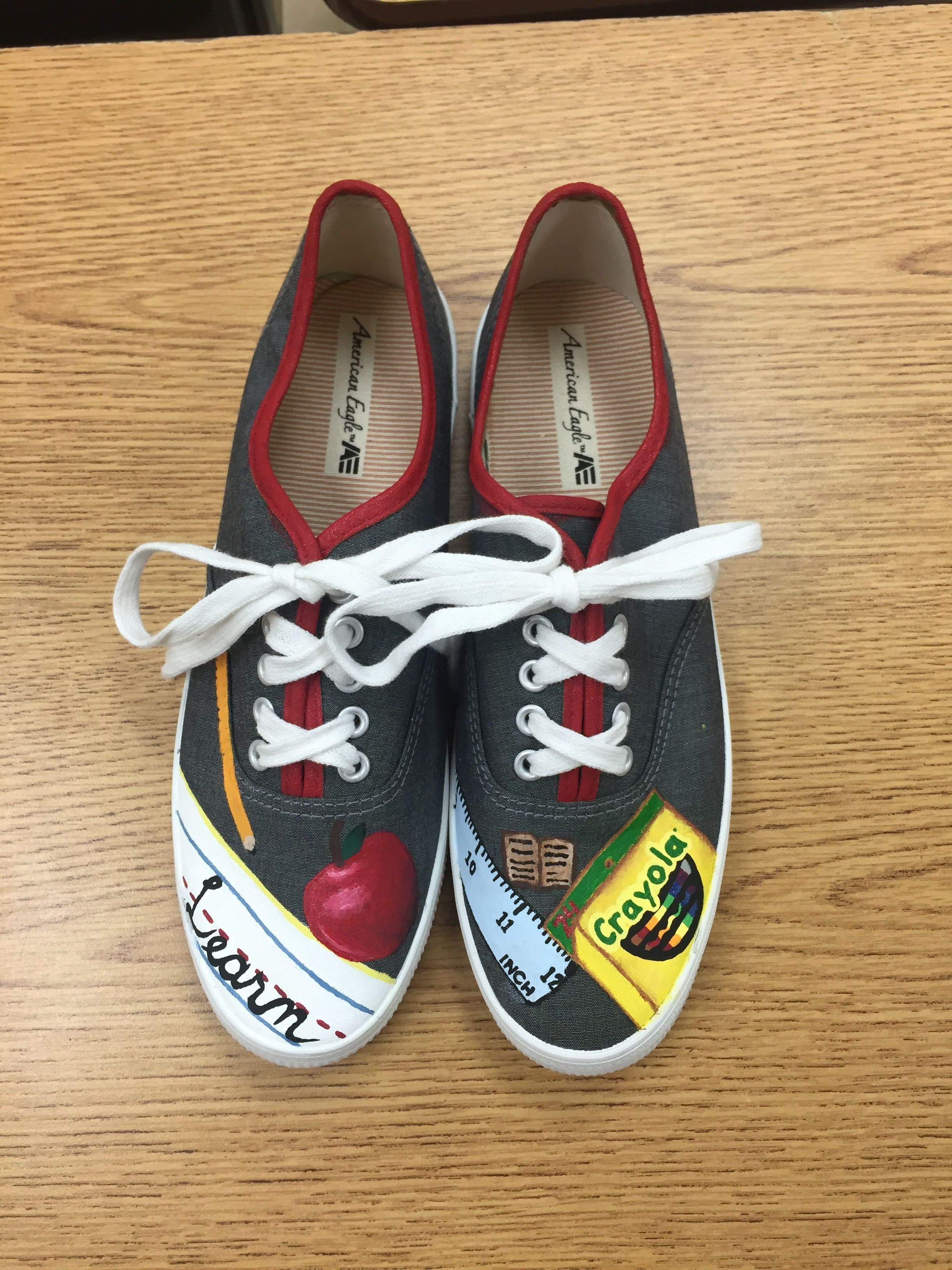 4fedc849d547d Painted Canvas Shoes - Teacher - Education | Brag Board - My ...