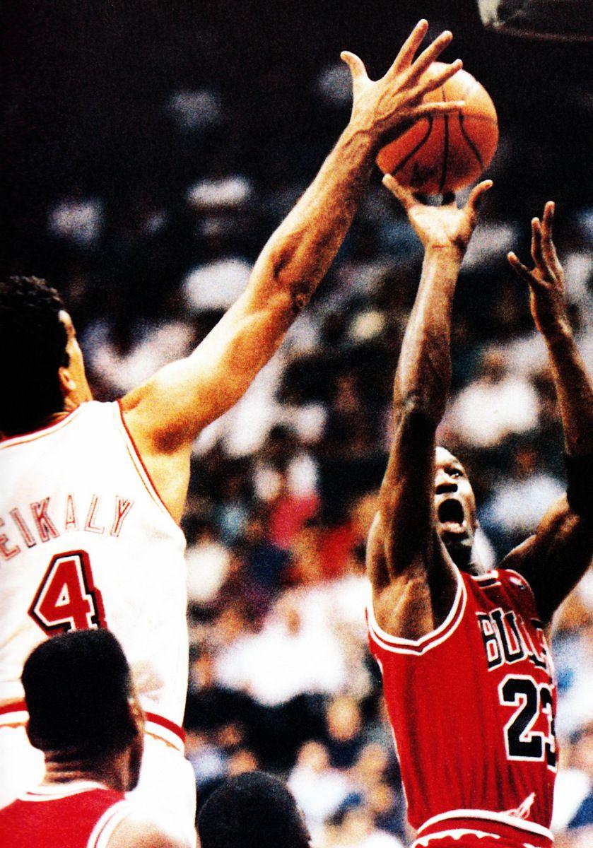 Michael Jordan Chicago Bulls Rony Seikaly Miami Heat