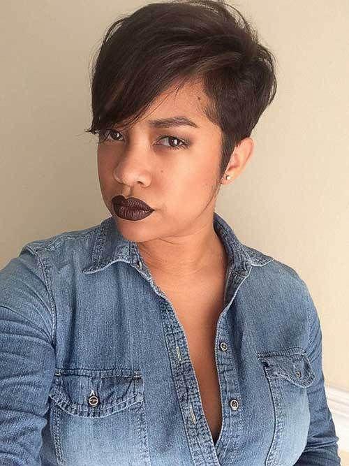 short hair for women of color, black women haircut designs, low ...